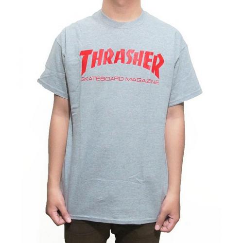 Triko Thrasher Skate Mag gray/red
