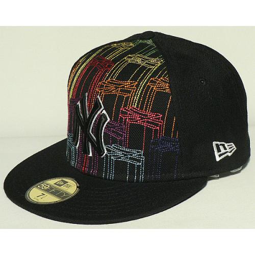 Kšiltovka New Era 5950 Logocascade NY Yankees black/white/rainbow