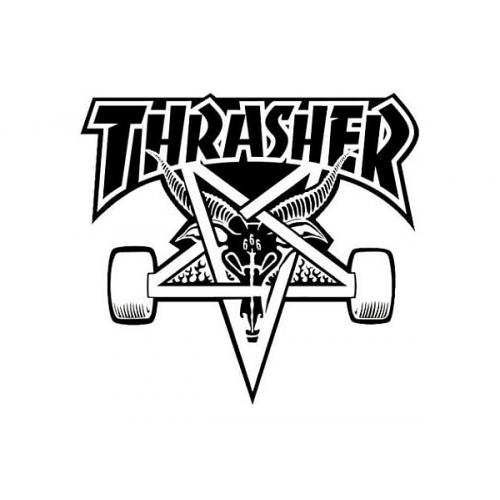 Samolepa Thrasher Skategoat black/white
