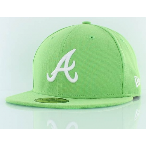 Kšiltovka New Era 5950 Atlanta Braves lime
