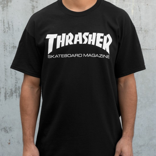 Triko Thrasher Skate Mag black
