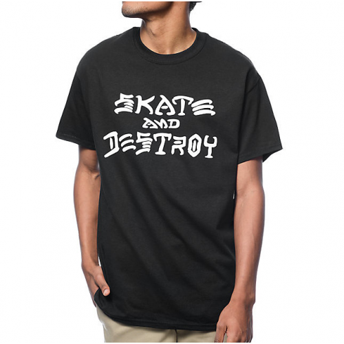Triko Thrasher Skate And Destroy black