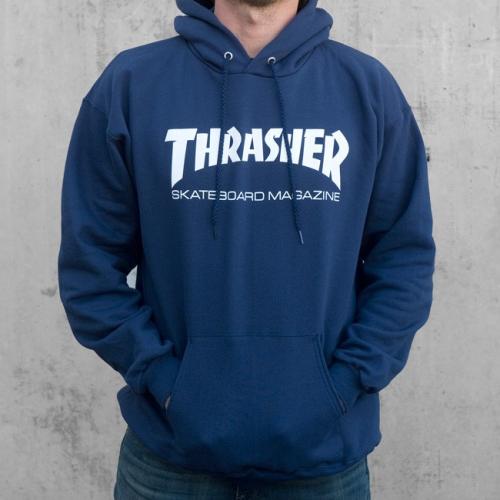 Mikina Thrasher Skate Mag Hood navy blue