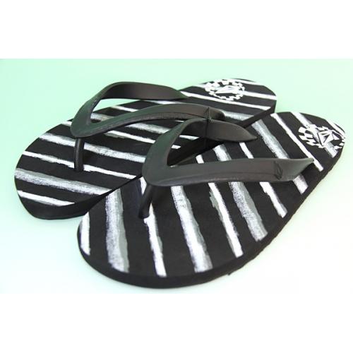 Pantofle Volcom Moto Stone black stripe