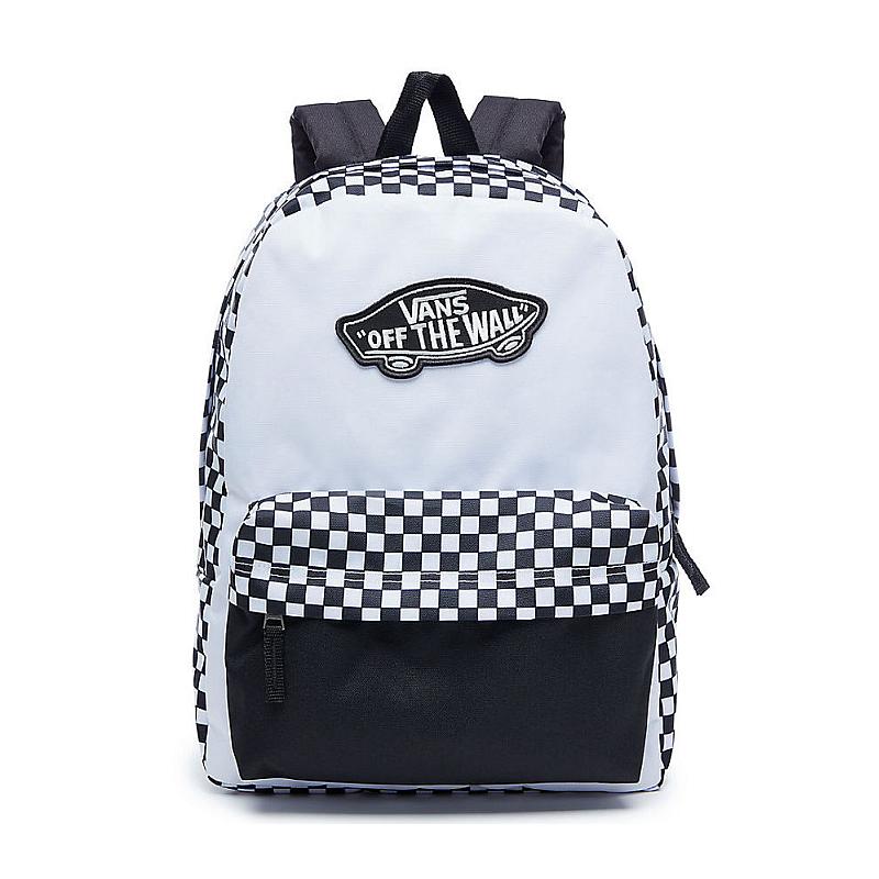 cd6b9a69c ... Batoh Vans Realm Backpack black/white checkerboard. Obrázek