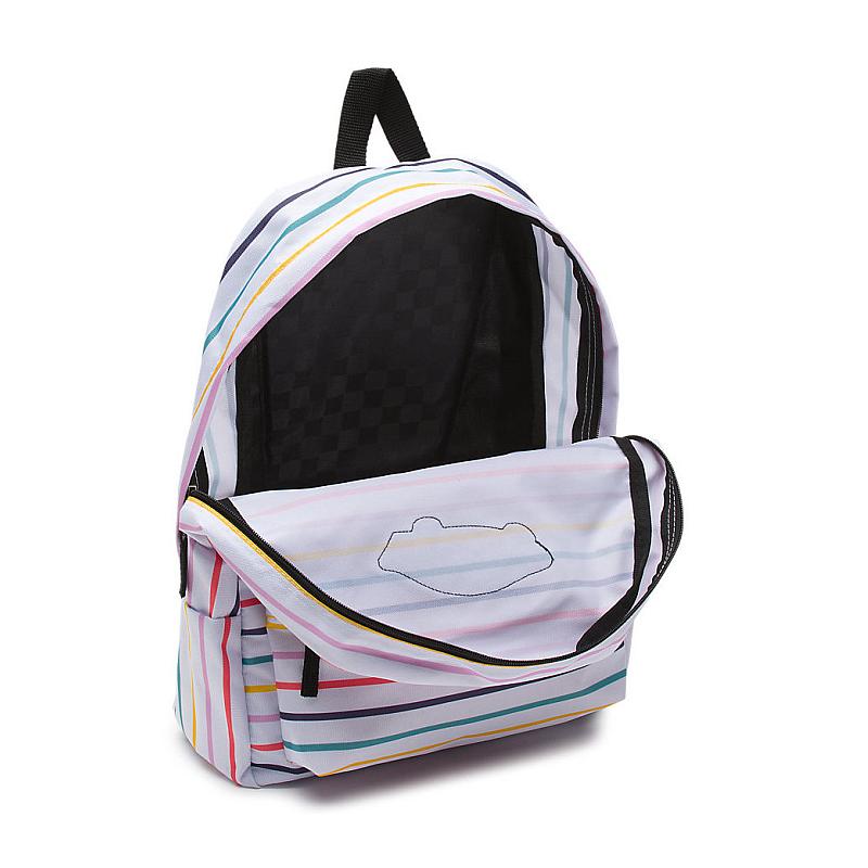 7a1857b4d6 Batoh Vans Realm Backpack party stripe