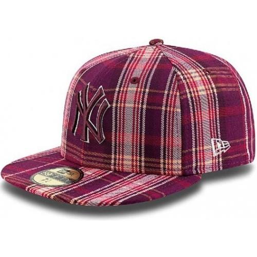Kšiltovka New Era 5950 Plaider NY Yankees maroon/gray/scarlet