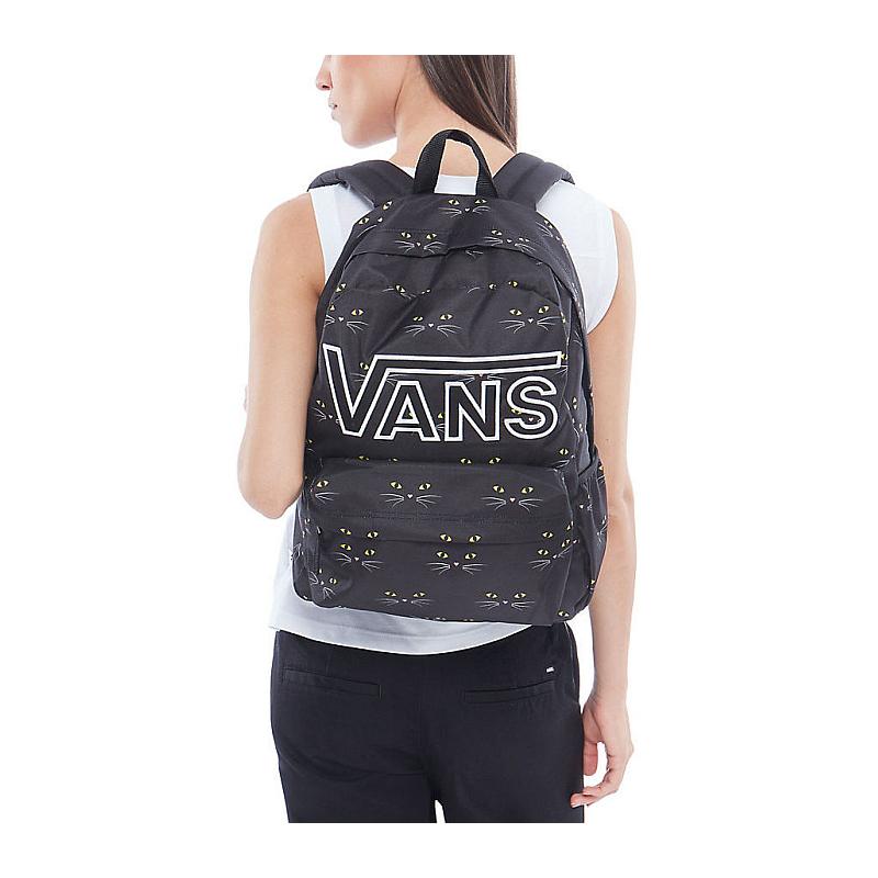95a33973a1 ... Batoh Vans Realm Flying V Backpack black cat  Obrázek (3) ...