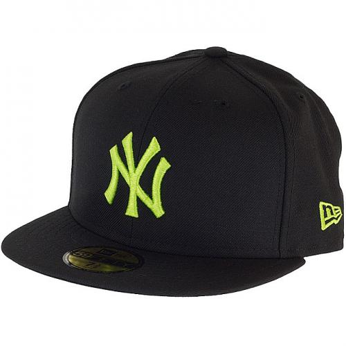 Kšiltovka New Era 5950 Basic NY Yankees black/lime