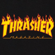 Mikina Thrasher Flame Hood black