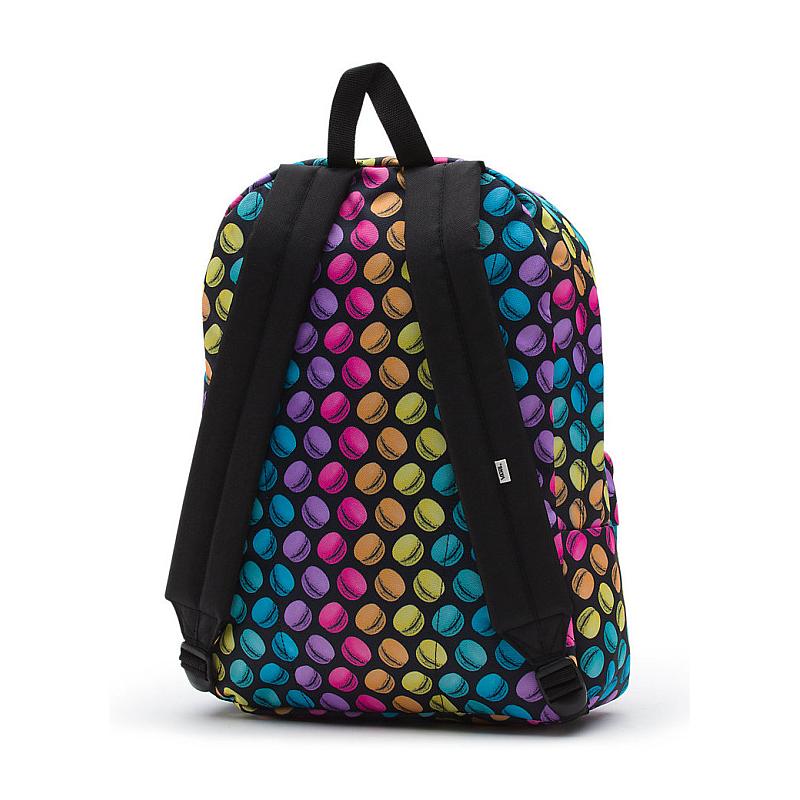 662d681724 Batoh Vans Realm Backpack (Late night) black/macaroons