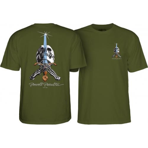 Triko Powell Peralta Skull And Sword military green