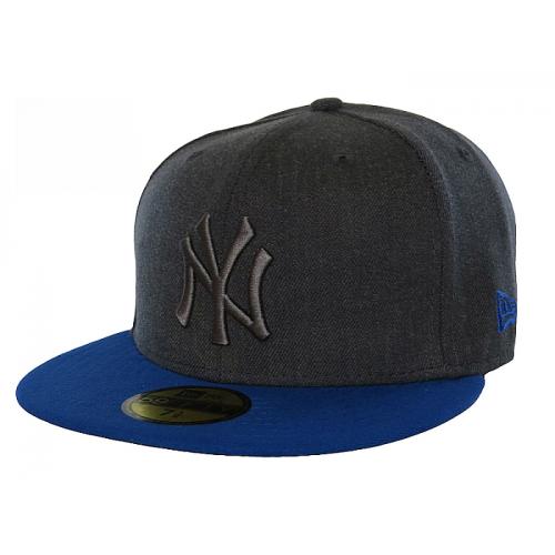 Kšiltovka New Era 5950 Pop Tonal NY Yankees heather graphite/blue