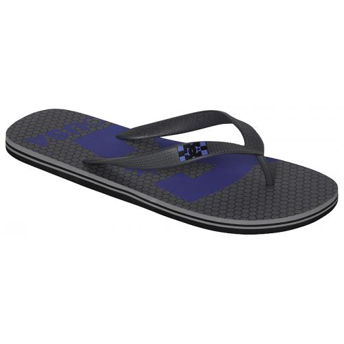 Pantofle DC Spray Logo grey/blue