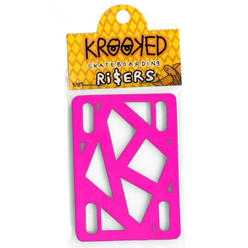 Podložky Krooked Risers hot pink 1/8