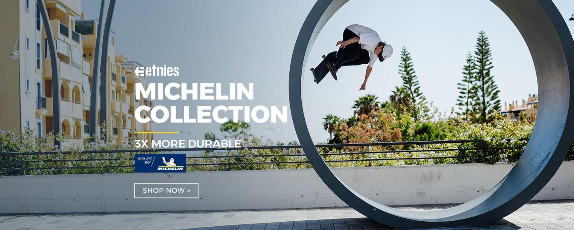 Etnies - podrážka Michelin u skate modelů bot - 3x odolnější než obyčejná